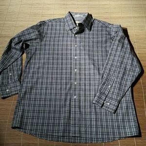 NWOT.Michael Kors Plaid Stripped Shirt. 16.5-32/33